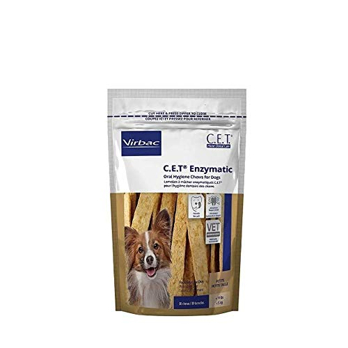 C.E.T. Enzymatic Oral Hygiene Chews for Petite Dogs, 90 Count