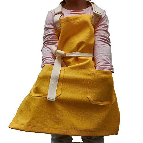 F&Co. delantales nivel profesional ajustables mexicanos. Mandil para chef, babero,pintor para niños infantil 100% algodón para regalo...
