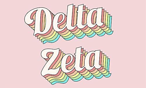 Delta Zeta - Sorority Letter Flag (Retro Design)
