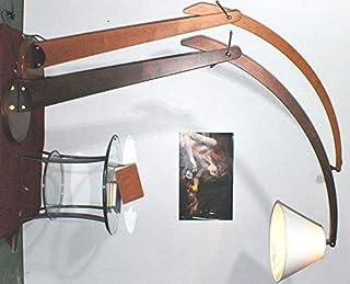Lampe de sol classique arche cerisier