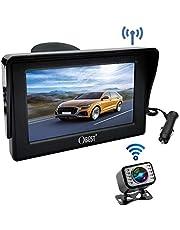 OBEST ワイヤレスバックカメラ 4.3インチLCDモニター バックカメラセット 170°広視野角 IP68防水 暗視機能 ガイドライン表示あり 取り付け超簡単 駐車支援システム 12V車用