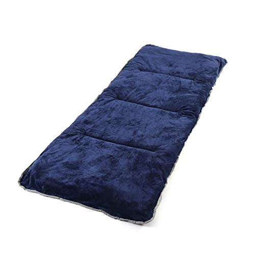 """Favorland Camping Sleeping Pad Cot Pads Mattress Mat Outdoor XL Soft Comfortable Polyester Thick 75""""x29"""" Lightweight Foldable for Hiking Backpacking Traveling, Durable (NBlue)"""