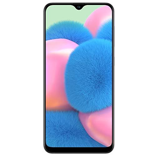 Samsung Galaxy A30S w/On-Screen Fingerprint (64GB, 4GB) 6.4', Triple Camera, Dual SIM GSM Unlocked A307G/DS - US + Global 4G LTE International Model (64GB + 64GB SD + Case Bundle) (White)