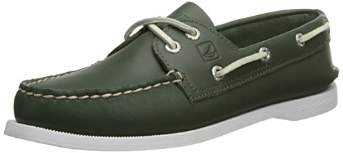 Sperry Top-Sider Women's A/O 2-Eye,Green Leather,US 5.5 M