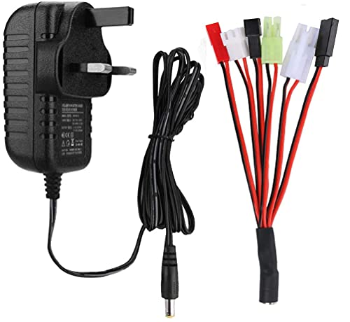 NIMH Charger for 2-10s 2.4-12V NIMH/NICD Battery Packs, RC Battery Smart...