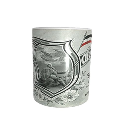 Lokis Truhe Deutsches Kaiser Reich Schwarz-Weiß-Rot Fahne Feldpost Patrioten Tasse Kaffeebecher Pott Nationalflagge Poesie Lyrik Vater ich Rufe Dich