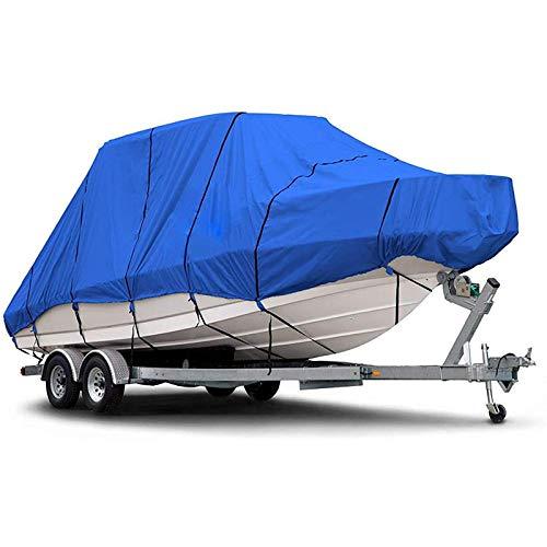 GKTF Funda de Lancha Cubierta de Polvo, Cubierta de Barco Heavy Duty 600D Resistente al Desgarro Anti-Ultravioleta para Barcos de Pesca Almacenamiento al Aire Libre,17to19ft:600x230cm