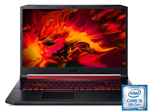 Acer Nitro 5 (AN517-51-55ML) 17,3 Zoll (43,94 cm 120Hz Full-HD IPS matt) Gamer Notebook (Intel Core i5-9300H, 16 GB RAM, 1.000 GB PCIe SSD, NVIDIA GeForce GTX 1650, Windows 10 Home) Schwarz / Rot