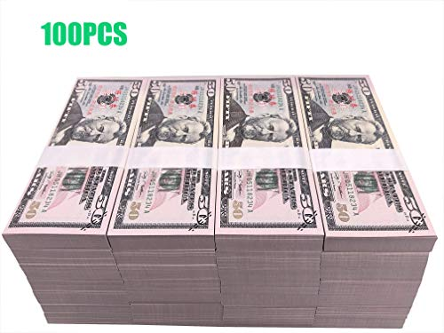 Prop Money Full Print 2 Sided Motion Picture Money Face Money Dollar Bills Realistic Money Stacks,Copy Money Play Money That Looks Real for Movie, TV, Videos