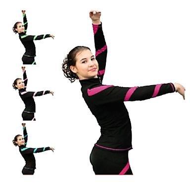 YAMEIJIA fleecejack voor dames met ijskunst schaatsen jurken perzik rood blauw roze koningsblauw stretch prestaties training rekbaar