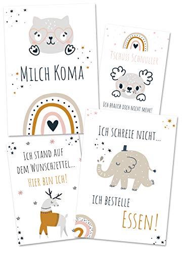 JoliCoon lustige Meilensteinkarten Baby - Halte wirklich grandiose Baby Meilensteine fest