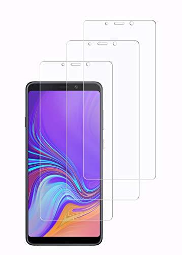 WEOFUN Panzerglasfolie für Samsung A9 2018 [3 Stück],Panzerglas für Samsung A9 2018 [ 9H Festigkeit Bildschirmschutz, Anti-Kratzen, Anti-Öl, Anti-Bläschen]