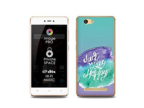 etuo Handyhülle für Allview X3 Soul Lite - Hülle, Silikon, Gummi Schutzhülle Fantastic Case - Sei glücklich