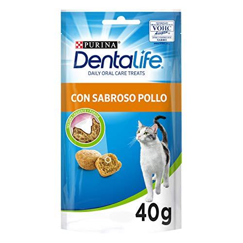 Purina DentaLife Snack Dental para Gato con Sabor a Pollo 8 x 40 g - 1 Pack 🔥