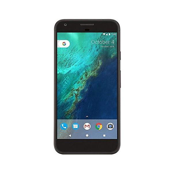 Google Pixel Mobile Phones, Quite Black, 32 GB (Renewed) Front Screen Display