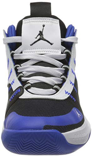 Nike Jordan Jumpman 2020, Zapatillas Deportivas Hombre, Racer Blue/Negro-Blanco-Metallic Silver, 42 EU