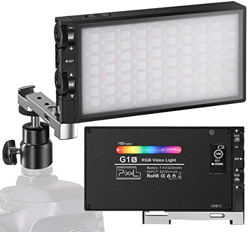 Pixel G1s RGB Video Light Built in 12W Rechargeable Battery LED Camera Light 360 Full Color product image