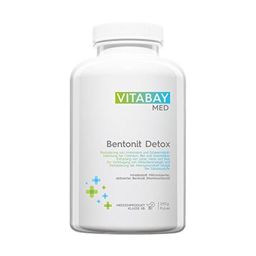 Bentonit Detoxpulver ultrafein 250g - über 90% Montmorillonit - Entgiftung & Schwermetallausleitung
