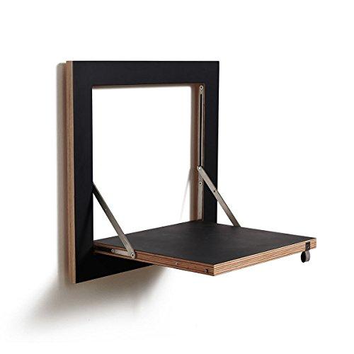 Fläpps Regal 40x40, schwarz Kante Holz lackiert BxHxT 40x40x31cm klappbar