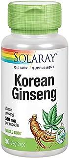 Solaray Korean Ginseng 550 mg, 50 Vegetable Capsules
