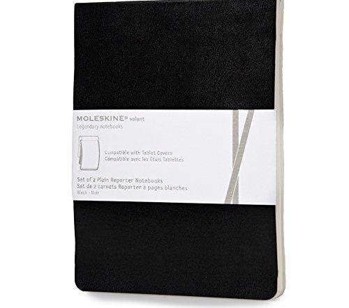 Moleskine - Recambio de Cuaderno para Funda de iPad Mini, Set de 2 Cuadernos, Funda Blanda, Color Negro, 96 Páginas