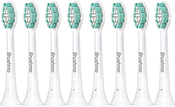 Brushmo Replacement Toothbrush Heads Compatible with Sonicare Electric Toothbrush 8 Pack