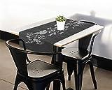 40 cm x 150 cm Tischläufer/Tischdecke/Mitteldecke/Tischdekoration/Tischband mit bunten Blumen Motiven Farbe Floral Grau Größe 150 cm - 2