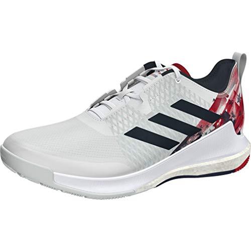 adidas EH2580 Crazyflight USAV Low - Zapatillas de voleibol unisex (blanco, azul/rojo) Blanco Size: 40 EU