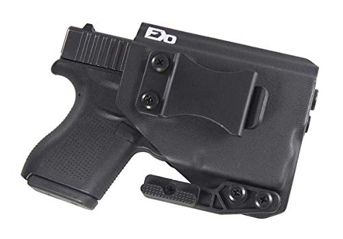 FDO Industries -Formerly Fierce Defender- IWB Kydex Holster Compatible with Glock 43 w/ TLR6 The Paladin Series -Made in USA- (Black)