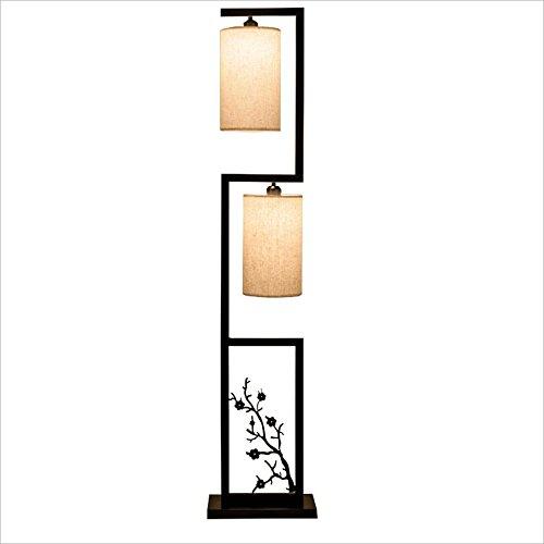 Standleuchte Standleuchten Neue Chinesische Tuch Lampe 2 Stehlampe, Linie Schnittmuster, Wohnzimmer Schlafzimmer Studie Vertikale Lampe, H152.5CM Standleuchten