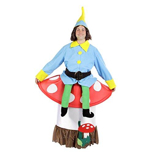 Disfraz humorstico de enano sentado en seta - L