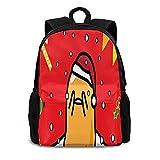 Gu-det-am-a La-zy Egg Backpack for Unisex, Double Shoulder Bag Classic Casual Backpack Multi-Function Bag Large Capacity Travel Backpack School Bag 16.5x12.6x5.5in