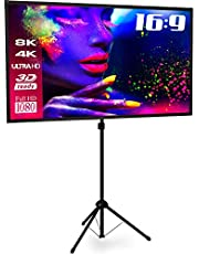 "eSmart MISATI X-Type X-Type Treppiede ultraleggero 177 x 100 (80"") 16:9 | Full Masking | Home Cinema Proiettore LCD a LED | Quick Setup | Treppiede preassemblato | Borsa"