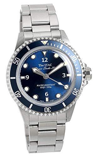 [ザ・スタック] The STAC 日本製 国産 クラシック ダイバーズウォッチ ディープブルー スイープセコンド 腕時計 38mm Classic Scuba 200 メンズ レディース