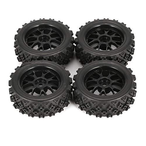 Heaviesk 4 Piezas 70 mm Star Word Fetal Flower Off-Road Wheel Rim y neumáticos para HSP HPI 9068ALL 1/10 HSP 94123/94122/94103 / D4 / D3