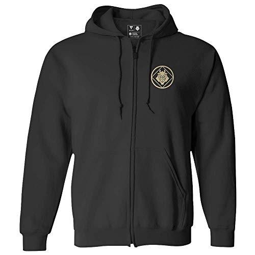 G2 Esports G2 Crest Zip Hoodie-Black (2XL) Kapuzenpullover, Schwarz