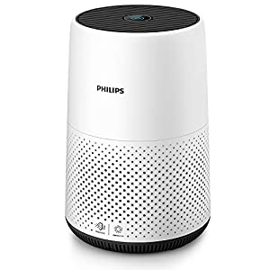 Philips AC0820/30 Series 800 Compact Air Purifier for Small Rooms, Removes 99.5% of Ultrafine Particles, Real Time Air Quality Feedback, Anti-Allergen, Reduces Odours and Gases, HEPA Filter, 22 W