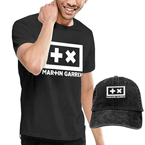 Thimd Martin Garrix Tee And Washed Denim Baseball Dad Cap Zwart - zwart - Medium