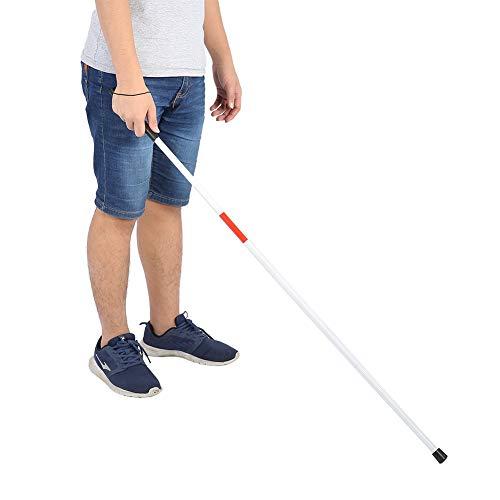 Muleta de bastón reflectante plegable, portátil ligero antichoque guía de ayuda a la movilidad bastón para caminar para ciegos muleta de bastón reflectante plegable plegable