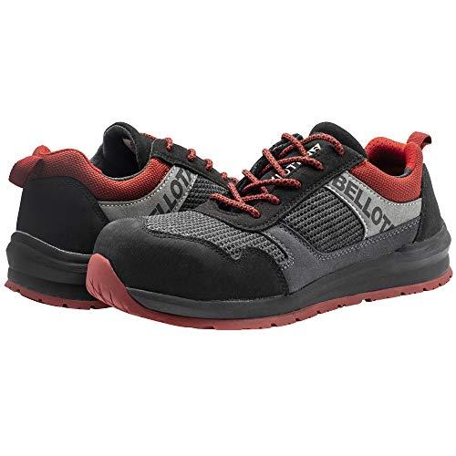 Bellota 72350BR43S1P Zapato de Seguridad, Negro, Rojo, 43