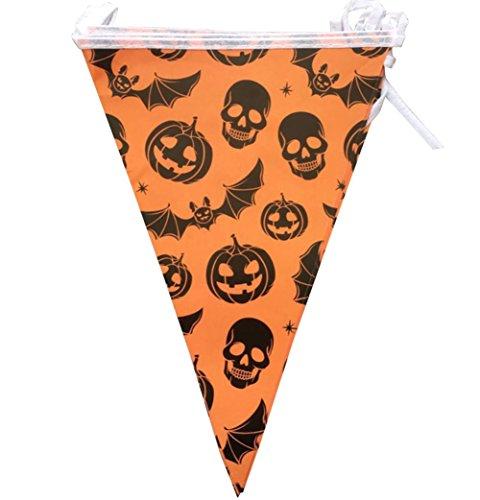 Demarkt pompoen Hessische wimpel Halloween papier stoffen slinger slinger bonting vlaggetjes driehoek vlag banner