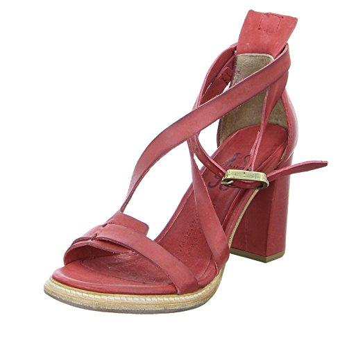 A.S.98 Damen Sandalette 589004 Blockabsatz Leder Rot Größe 39 EU