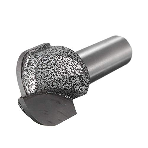 CENPEN Broca de punta redonda de 2,5 cm de diámetro de corte de acero de tungsteno para fresadora de 1,27 cm
