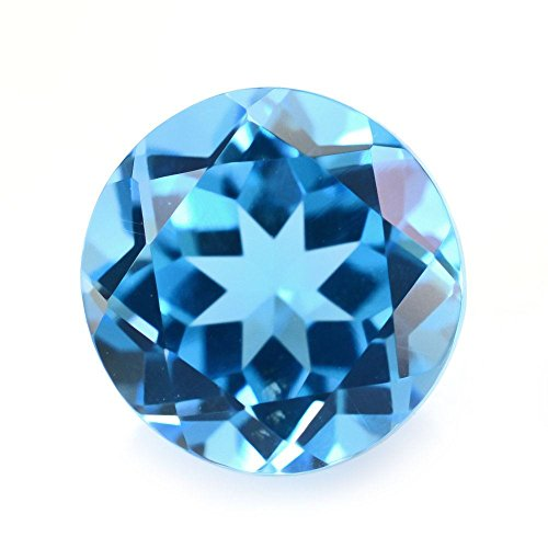 Ratnagarbha Swiss Blue Topaz Brilliant Cut Round Shape Faceted Loose gem Stone, 3.50 mm 50 Piece, Swiss Blue Color Topaz, Wholesale Price, Jewelry Making.