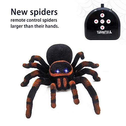 Jannyshop Ferngesteuerte Spinne Bionic Spinne Spielzeug Vogelspinne Fernbedienung Abstand 8m (Nicht enthalten Batterie)