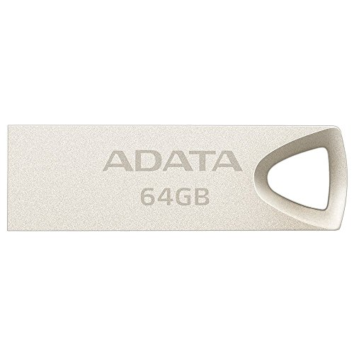 ADATA 64 GB Memoria Flash USB 2.0 Metálica Color Plata (Modelo UV210)