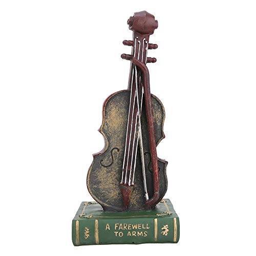 Wifehelper retro hars sculptuur viool/saxofoon model ornament Home Decor instrument handwerk voor thuis kantoor
