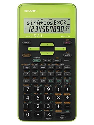 Sharp EL-531 TH-GR Wissenschaftlicher Schulrechner (D.A.L.-Eingabe, Batteriebetrieben) grün