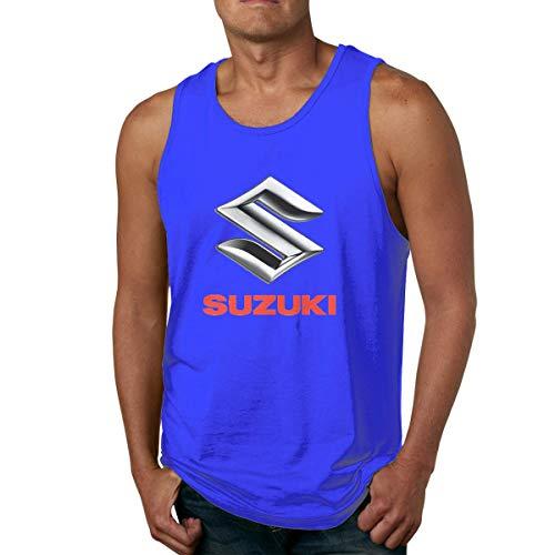 Tops Casuales Camisetas Hombre Adulto Logotipo de la Motocicleta Suzuki Camiseta sin Mangas de algodón Informal Camiseta sin Mangas Estampada