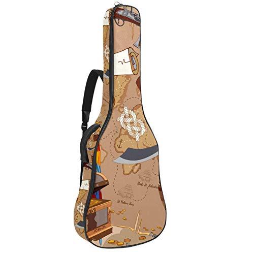 Bolsa acolchada para guitarra acústica de 106,4 cm con 2 bolsillos, correa para guitarra loro Voyage